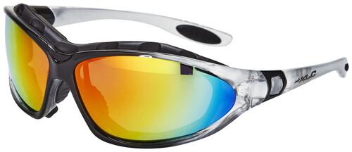 XLC Sonnenbrille Reunion SG-F05 Rahmen transparent Gläser rot verspiegelt gXgsu5rBU
